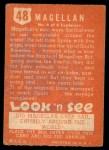 1952 Topps Look 'N See #48  Magellan  Back Thumbnail