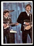 1964 Topps Beatles Color #63   George and John playing in concert Front Thumbnail