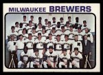 1973 Topps #127   Brewers Team Front Thumbnail