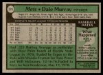 1979 Topps #379  Dale Murray  Back Thumbnail
