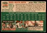 1954 Topps #168  Morrie Martin  Back Thumbnail