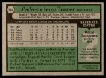 1979 Topps #564  Jerry Turner  Back Thumbnail