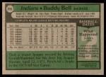 1979 Topps #690  Buddy Bell  Back Thumbnail