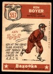 1959 Topps #557   -  Ken Boyer All-Star Back Thumbnail