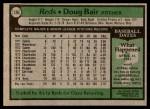 1979 Topps #126  Doug Bair  Back Thumbnail