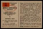 1954 Bowman #33  Harold Hal Giancanelli  Back Thumbnail