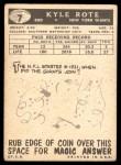 1959 Topps #7  Kyle Rote  Back Thumbnail