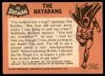 1966 Topps Batman Black Bat #46 BLK  The Batarang Back Thumbnail