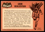 1966 Topps Batman Black Bat #7 BLK  Grim Realization Back Thumbnail
