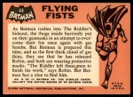 1966 Topps Batman Black Bat #44 BLK  Flying Fists Back Thumbnail