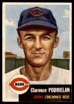 1953 Topps #237  Clarence 'Bud' Podbielan  Front Thumbnail
