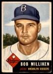 1953 Topps #221  Bob Milliken  Front Thumbnail