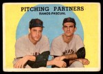 1959 Topps #291   -  Pedro Ramos / Camilo Pascual Pitching Partners Front Thumbnail
