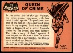 1966 Topps Batman Black Bat #26 BLK  Queen of Crime Back Thumbnail