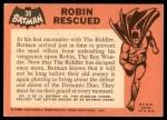 1966 Topps Batman Black Bat #38 BLK  Robin Rescued Back Thumbnail