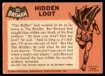 1966 Topps Batman Black Bat #55 BLK  Hidden Loot Back Thumbnail