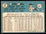 1965 Topps #155  Roger Maris  Back Thumbnail