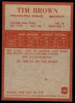 1965 Philadelphia #130  Tim Brown  Back Thumbnail