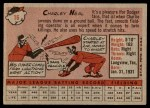 1958 Topps #16  Charlie Neal  Back Thumbnail