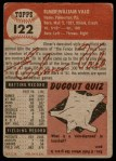 1953 Topps #122  Elmer Valo  Back Thumbnail