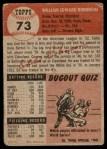 1953 Topps #73  Eddie Robinson  Back Thumbnail