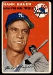 1954 Topps #130  Hank Bauer  Front Thumbnail