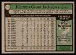 1979 Topps #117  Grant Jackson  Back Thumbnail