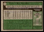 1979 Topps #219  Roy Smalley  Back Thumbnail