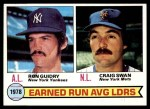 1979 Topps #7   -  Ron Guidry / Craig Swan ERA Leaders   Front Thumbnail