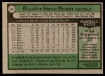 1979 Topps #502  Steve Braun  Back Thumbnail