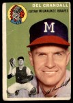 1954 Topps #12  Del Crandall  Front Thumbnail