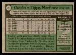 1979 Topps #491  Tippy Martinez  Back Thumbnail