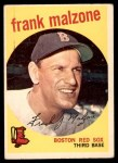 1959 Topps #220  Frank Malzone  Front Thumbnail