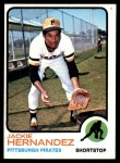 1973 Topps #363  Jackie Hernandez  Front Thumbnail