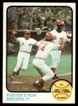 1973 Topps #202   -  George Foster / Pete Rose / Alex Grammas 1972 NL Playoffs - Foster's Run Decides It Front Thumbnail