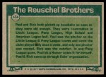 1977 Topps #634   -  Paul Reuschel / Rick Reuschel Big League Brothers Back Thumbnail