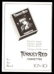 1911 T3 Turkey Red Reprint #122  Fred Tenney  Back Thumbnail