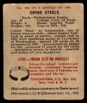 1948 Bowman #106  Ernie Steele  Back Thumbnail