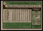 1979 Topps #171  Gene Clines  Back Thumbnail