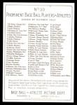 1911 T3 Turkey Red Reprint #33  Jack Pfeister  Back Thumbnail