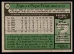1979 Topps #294  Pepe Frias  Back Thumbnail