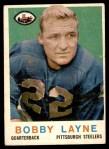 1959 Topps #40  Bobby Layne  Front Thumbnail