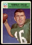 1966 Philadelphia #142  Norm Snead  Front Thumbnail