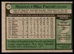 1979 Topps #576  Mike Parrott  Back Thumbnail