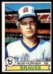 1979 Topps #586  Bob Horner  Front Thumbnail