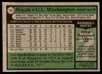 1979 Topps #157  UL Washington  Back Thumbnail