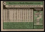 1979 Topps #696  Andy Hassler  Back Thumbnail