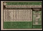 1979 Topps #87  Pete Falcone  Back Thumbnail