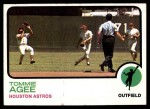 1973 Topps #420  Tommie Agee  Front Thumbnail