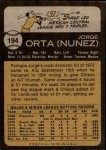 1973 Topps #194  Jorge Orta  Back Thumbnail